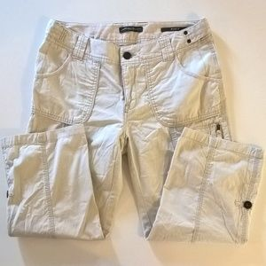 womens eddie bauer pants size 8 cropped capris tan